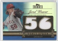 2012 Topps Tribute Debut Digits Relic Blue Encased #DD-JW Jered Weaver Card
