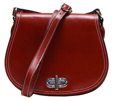 Floto Imports Firenze Saddle Bag Handbag, Italian Calfskin Leather