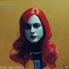 BELET BT015 1/6 Scale Beauty Headplay with Red Hair Female Head Sculpt Figures