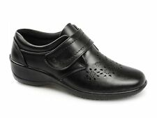 Dr Keller ALMA Womens Ladies Velcro Perforated Floral Comfy Casual Shoes Black