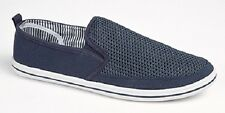 MENS NAVY CANVAS DECK SHOES PUMPS YACHTING SUMMER HOLIDAY SIZES 6-12 OLDER BOYS