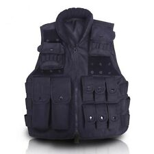 Tactical Airsoft Molle Paintball Vest War game SWAT Police Combat Assault Black