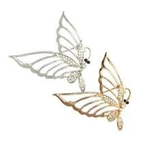 Fashion Glitter Rhinestone Butterfly Charms Brooches Pins Elegant Lady Jewelry