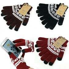 Magic Touch Screen Texting Stretch Winter Warm Gloves For iPhone Samsung