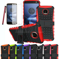 Shockproof Hybrid Rubber Stand Phone Case Cover For Motorola Moto Z Force Droid