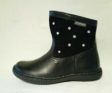 NEW GIRLS STEP2WO DARK NAVY BLUE LAETHER ANKLE BOOTS SHOES STEP TWO INFANTS