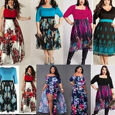 Women Plus Size Evening Party Prom Gown Formal Bridesmaid Cocktail Maxi Dress XL