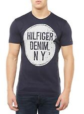 NEW TOMMY HILFIGER SHIRT MEN'S T-SHIRT CN T-SHIRT S/S 3B DARK BLUE BLUE MEN