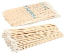 "100 Count 6"" Single Ended Cotton Swabs With Wooden Sticks"
