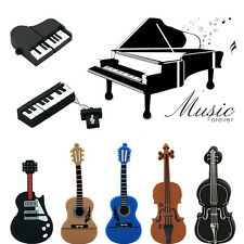 Musical USB flash drive violin/piano/guitar Pen drive flash memory stick u disk