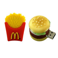 USB Flash Drives French fries/hamburger usb drive thumb drive cute memory stick