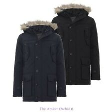 BOYS KIDS PUFFER QUILTED FUR HOOD PADDED BACK TO SCHOOL PARKA JACKET COAT 7-13