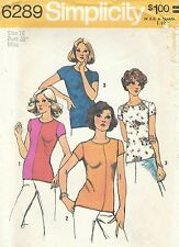 Simplicity 6289 Misses' Pullover Tops Size 16   Sewing Pattern