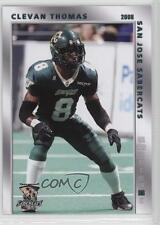 2008 Grandstand San Jose SaberCats CLTH Clevan Thomas (AFL) Rookie Football Card