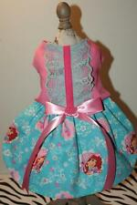"STRAWBERRY SHORTCAKE Dog Dress ""Tea Time""- fully lined - SMALL"