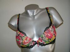 Lise Charmel Fine Cup Bra Love En Flower Multifloral Black/Colorful NEW