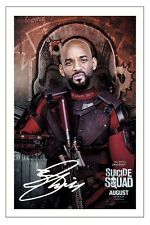 WILL SMITH  SUICIDE SQUAD SIGNED 6x4 PHOTO PRINT AUTOGRAPH DEADSHOT