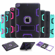 Heavy Duty Rubber Shockproof Armor Stand Case Cover For iPad 2/3/4 Mini Pro 9.7