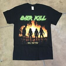 Overkill Feel The Fire Shirt Over Kill Thrash Metal Exodus Slayer Metallica