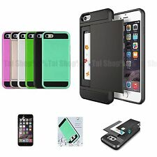 Slim Card Pocket Wallet Case Cover Accessory Screen Protector For iPhone 7 7Plus