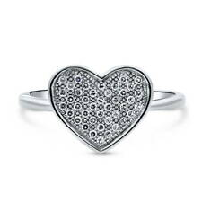 BERRICLE Sterling Silver CZ Heart Fashion Right Hand Ring