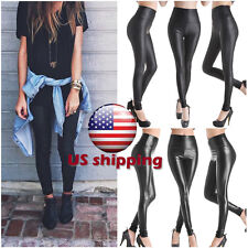 Footless Liquid Wet Look Shiny Slim All Color Stretch Leggings Pants All Size