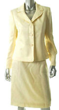 NWT Suit Studio Shimmering Textured Ivory Skirt Suit 12 $200