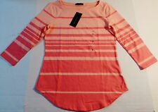 Tommy Hilfiger Striped 3/4 Sleeve Blouse Top.