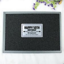 50th Birthday Black Glitter Guest Book Memory Album - Add a Name & Message