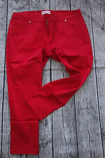 Sheego Cloth Trousers 7/8 Trousers Size 40 - 54 Red (141) NEW