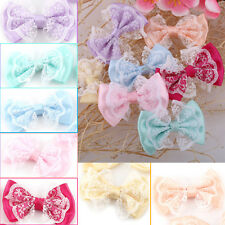 50PCS DIY Satin Ribbon Organza Lace Bow Appliques/Craft/Wedding Decoration