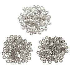 100pcs Tibetan Silver Spacer Beads for European Charms Chains Cable Bracelets