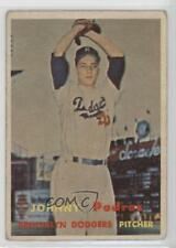 1957 Topps #277 Johnny Podres Brooklyn Dodgers Baseball Card