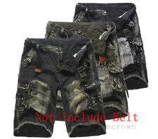 Military Mens CAMO CARGO SHORTS Camouflage BERMUDA Work Army Loose Baggy Pants d