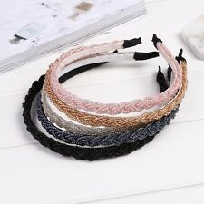 New Womens Fashion Twisted Beads Headband Hair Band Head Piece Hair Hoop EA