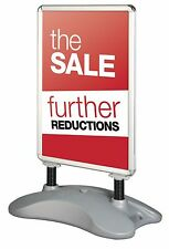 Silver or Black Eco Forecourt Waterproof Outdoor Pavement Display Sign