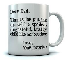 Father's Day Gift idea For Dad Funny Coffee Dear Dad Novelty Ceramic Mug
