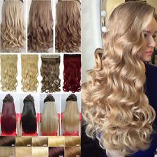 120-200g Meag Thick One Piece Clip In Hair Extensions Long Straight As Human New