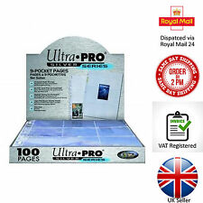 Trading Card A4 Sleeves Ultra Pro SILVER SERIES 9 Pocket (11 Hole) Pages