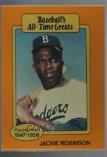 1987 Hygrade Baseball's All-Time Greats #JARO.2 Jackie Robinson (Batting) Card