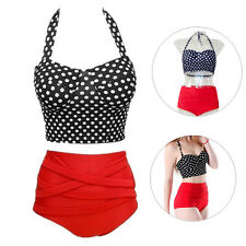 Bikini 1 Set Pin Up New Bra + Panty Sexy Hot Women Polka Dot