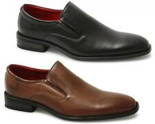 Giovanni Mens Faux Leather Slip On Office Smart Comfy Casual Shoes Tan/Black New