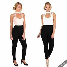 Womens Ladies Tailored Lace Choker V Neck Party Wedding Jumpsuit Romper Playsuit