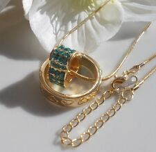 Women's Necklace Heart Pendant Jewelry Rhinestones Necklace gold