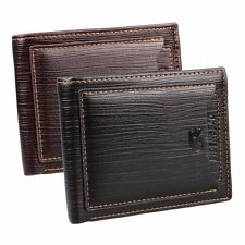 Fashion Men's Leather ID Credit Card Holder Clutch Bifold Money Purse Wallet
