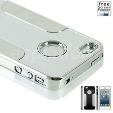 Brushed Aluminum Back Metal Chrome Hard Case Cover for Apple iphone 5S 5 4s 4