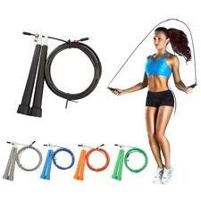 10' Adjustable Jump Rope Cable Crossfit Exercise Boxing Cardio & Home Gym - NEW