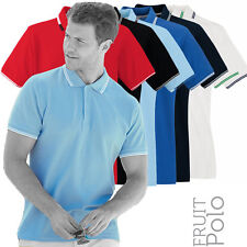 Fruit Of The Loom F63032 Mens Tipped Premium Cotton Polo Shirt 5