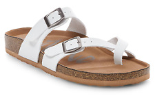 Ladies Womens Prudence Footbed Sandals Adjustable Straps Flat Buckles Casual