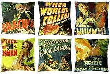 *SALE* 2 horror film B movie cushion covers punk MUMMY 50Ft WOMAN DRACULA LAGOON